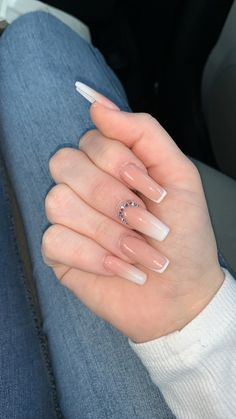 Bling Acrylic Nails, Acrylic Nails Coffin Short, Simple Acrylic Nails, Square Acrylic Nails, Aycrlic Nails, Chic Nails, Best Acrylic Nails, Simple Nails, Trendy Nails