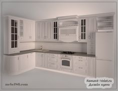 Большая угловая кухня в классическом стиле с подсветкой и встроенной техникой (10 фото)
