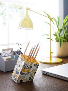 Make your own pen/pencil holder---easy
