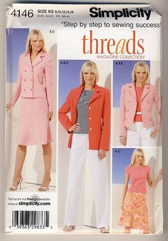 Simplicity 4146 Misses Skirt Pants Lined by Noahslady4Patterns