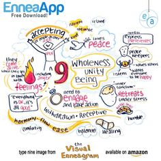 enneagram type 9 graphic