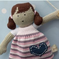 Anabelle++hand+knitted+doll++traditionally+inspired+by+BooBiloo