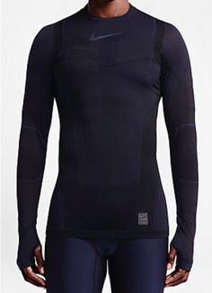 ce318985358b nike pro combat hyperwarm long sleeve crew shirt red