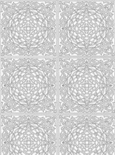 Ausmalbild abstrakten Mustern fur Erwachsene - Abstract voor volwassenen