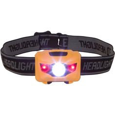 Easy to Use Super Bright LED Headlamp Great for Camping, Hiking, Dog Walking, Running and Kids. One of the Lightest (1.4 oz) Best Headlights. Water  Shock Resistant with Red Strobe ** Click on the image for additional details.