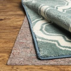 Mohawk Home Supreme Felted Dual Surface Rug Pad x Prevent Any Slipping Or Tripping Hazards. -- Awesome products selected by Anna Churchill Solid Rugs, Mohawk Home, Rubber Material, Home Rugs, Online Home Decor Stores, Home Decor Outlet, Blue Area Rugs, Floor Rugs, Shag Rug