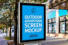 Modern outdoor screen free mock-up on the street. This will look perfect with all kinds of posters and advertisements. Simply repleace your own design inside the PSD file and you're good to go in just few seconds!- Photo realistic- Fully layered PSD (minimum CS5)- 3000×2000 pixels size- Real backgro