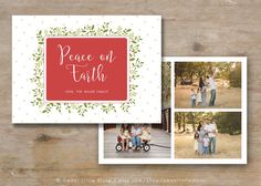 Christmas Card With HandPainted Script Details  A Template To