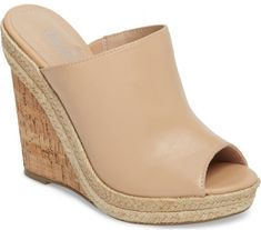 Charles By Charles David Balen Wedge in Beige. Braided jute accents the  sole of a