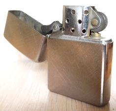 Vintage Working Zippo Full Sized Lighter by sugardrawers Lighter, 1970s, Usb Flash Drive, Chrome, Brass, Unique Jewelry, Handmade Gifts, Etsy, Vintage