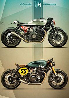 Racing Cafè: Cafè Racer Concepts - Yamaha XJR 1200 by Holographic Hammer
