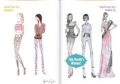 March's Sketchbook Winner is Katie G. from Santa Ana; Congrats Katie! #FIDMFashionClub