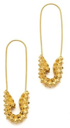tom binns jewelry | Tom Binns Punk Pave Short Safety Pin Earrings in Gold - Lyst