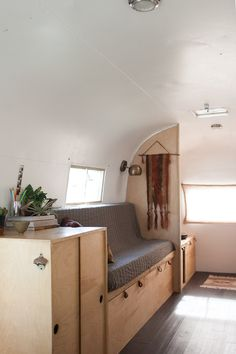 Birch & Pine - Vintage Airstream | Isaac Sconce Brass - Short Arm | Schoolhouse Electric & Supply Co.
