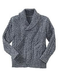 I know Leo will hate this sweater, but I can't help envisioning him wearing rolled khakis and a simple tee while fishing in the backyard. Shawl Collar Sweater, Men Sweater, Boys Knitting Patterns Free, Boy Shoes, Boys Sweaters, Winter Wear, Big Boys, Boy Fashion, Boy Outfits