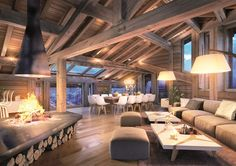 Property for sale in Ski Chalet, Courchevel, France, 73120 Modern Mountain Home, Mountain House Plans, Mountain Homes, Mountain Cottage, Chalet Design, Chalet Style, Dream Home Design, House Design, Casas Country