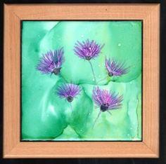 Original Alcohol Ink Ceramic Tile 6x6 Ceramic by LindaFlynnStudio, $35.00