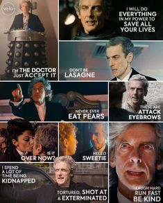 Peter Capaldi Doctor Who, Doctor Who 12, Twelfth Doctor, Doctor Who Quotes, Eleventh Doctor, Doctor Who Birthday, Dr Who Companions, Wicked, John Barrowman