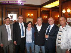 Da sinistra, Luca Snaidero, Valentino Laiti, Katia Ballardini del Collegio di Forlì, Alessandro Bonotto, Pierluigi Rigato Presidente di Padova, Sergio Montagner del Collegio di Treviso.
