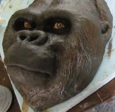 tute: Gorilla Mask – Made with Plaster Cloth, Paper Mache and Air Dry Clay | Ultimate Paper Mache