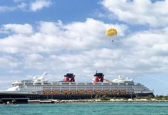 Magical Monday {Parasailing on Disney Cruise Line's Castaway Cay} Castaway Cay, Parasailing, Disney Cruise Line, Disney Vacations, Boat, Adventure, Dinghy, Boats, Adventure Movies