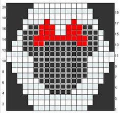 Mickey Mouse pattern to make a scarf or blanket HEXIPUFF Crochet Pixel, Pull Crochet, Crochet Chart, Filet Crochet, Knit Crochet, Mickey Mouse Quilt, Crochet Mickey Mouse, Crochet Disney, Minnie Mouse