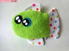 Doudou monstre kawaii Poisson vert : Jeux, jouets par l-atelier-de-ge