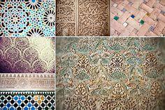 Alhambra-9.jpg (600×403) Tile work and carvings inside the Alhambra