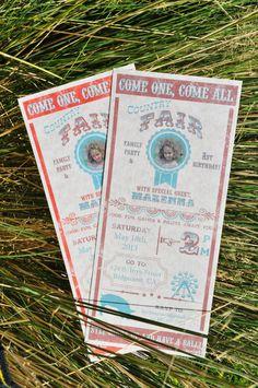 DIY Vintage Country Fair Invitations Printable