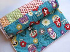 matrioshka doll - girl quilt crib size