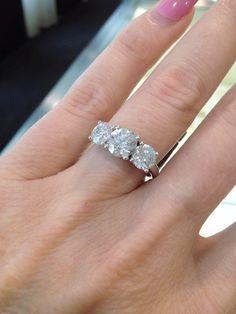 Diamond Trilogy!    #diamond #engagement #ring #love #style #marryme #blig #sparkle #shimmer #diamondsinternational