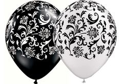 BLACK AND WHITE DECORATIONS, TABLEWARE AND PARTY SUPPLIES