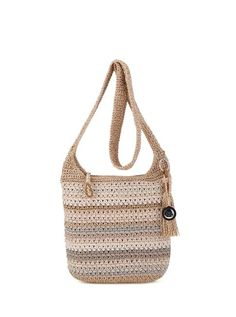 We've updated our best selling casual classics crossbody and you'll love it! Soft and casual, the crossbody features The Sak signature crochet weave in new colors and stripes.