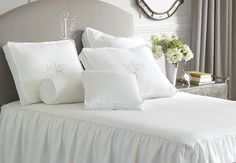 De' Medici by Eastern Accents Leonara Single Reversible Coverlet Size: California King Coverlet, Color: White Ruffle Bedding, Linen Bedding, Bedding Sets, Bed Linens, Custom Bedding, Comforter, Luxury Bedspreads, Natural Curtains, Houses