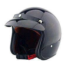 Tpfocus Open Face 3/4 Vintage Universal Motorcycle Helmet