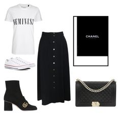 """""""Untitled #301"""" by hibiahclothes on Polyvore featuring Chanel, Tee and Cake, Converse and Gucci"""