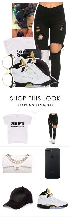 """""""He so irritating✋"""" by jayzhee ❤ liked on Polyvore featuring Chanel, River Island, NIKE and Sunday Somewhere"""