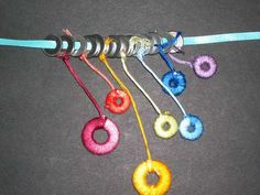 Hardware Jewelry: Wrapped Washer Necklaces featured on Instructables Wire Wrapped Jewelry, Beaded Jewelry, Teen Jewelry, Jewelry Ideas, Jewlery, Washer Crafts, Hardware Jewelry, Diy Jewelry Making, Making Ideas