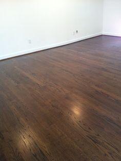 jacobean stain on white oak - White Oak hardwood flooring available at Linden Lumber, LLC Hardwood Floor Stain Colors, Refinishing Hardwood Floors, Oak Hardwood Flooring, Floor Refinishing, Hickory Flooring, Red Oak Floors, White Wood Floors, Dark Walnut Floors, Red Oak Stain