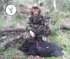 While Out looking for Fallow deer Cody shot his first ever pig with his Bear Apprentive 50lb bow from 18m with rage 2 Blade Broad Head