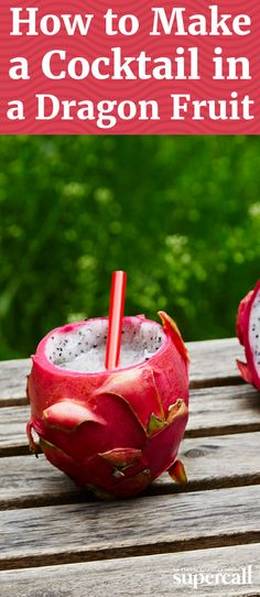 Don't be ashamed if you've never tasted dragon fruit. While they are delecta. Dragon Fruit Cocktail Recipes, Dragon Fruit Drink, Dragon Fruit Smoothie, Dragon Fruit Recipes, Fun Drinks Alcohol, Fruit Drinks, Alcohol Recipes, Fruit Fruit, Fruit Cakes