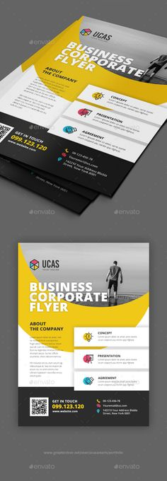 Buy Flyer by ucasamaris on GraphicRiver. 1 PSD Files Easy Customizable and Editable Size with bleed CMYK Color Design in 300 DPI Resolution Print Ready For. Corporate Brochure Design, Corporate Flyer, Business Brochure, Creative Flyer Design, Creative Flyers, Contents Page Design, Event Poster Design, Flyer Layout, Page Layout