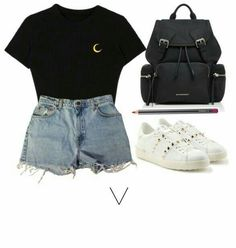 Angels & Devils BTS Outfits School Day Admin Kath Source by BlackJockerGirl tween outfits for summer Cute Comfy Outfits, Simple Outfits, Pretty Outfits, Stylish Outfits, Kpop Fashion Outfits, Girl Outfits, Edgy Teen Fashion, Mode Kpop, Bts Clothing