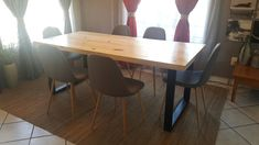Custom steel and wood table handmade by Sami decor and design. Proudly South african. Industrial furniture. Dinning table. samidecoranddesign@gmail.com Dinning Table, Wood Table, Industrial Furniture, Wood Furniture, Handmade Furniture, African, Steel, Home Decor, Timber Furniture