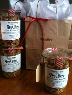 Our Good News Granola dressed up for the markets!  I think the Weck jars are simply beautiful.