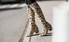 I love the idea of a high-shaft, medium-to-low-heel, fitted boot with a nice foot. the crazy print is great, but plain black would rock as well.