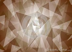 Abstract layered brown triangle pattern with bright center background design