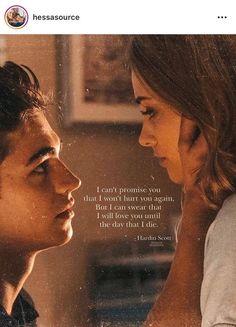 Tessa et Hardin Romantic Movies On Netflix, Romantic Movie Scenes, Romantic Movie Quotes, Sad Movie Quotes, Sad Movies, Film Quotes, Indie Movies, After Buch, Citations Film
