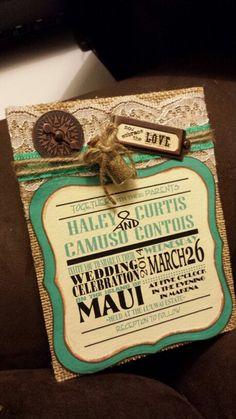 Vintage Beach Wedding invitations!