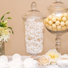 Decorative Pedestaled Apothecary Jar with Bell Shaped Bowl - Confetti.co.uk